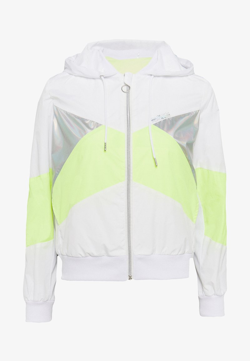 ONLY PLAY Petite - ONPAGATA JACKET PETITE - Kurtka wiosenna - white/safety yellow/iridescent