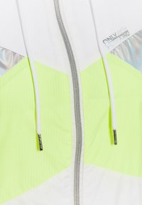 ONLY PLAY Petite - ONPAGATA JACKET PETITE - Summer jacket - white/safety yellow/iridescent - 2