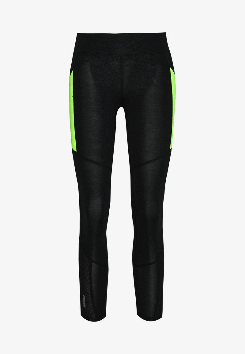 ONLY PLAY Petite - ONPANGILIA LIFE - Leggings - Trousers - black/saftey yellow