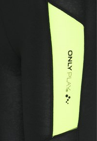 ONLY PLAY Petite - ONPANGILIA LIFE - Leggings - Trousers - black/saftey yellow - 2