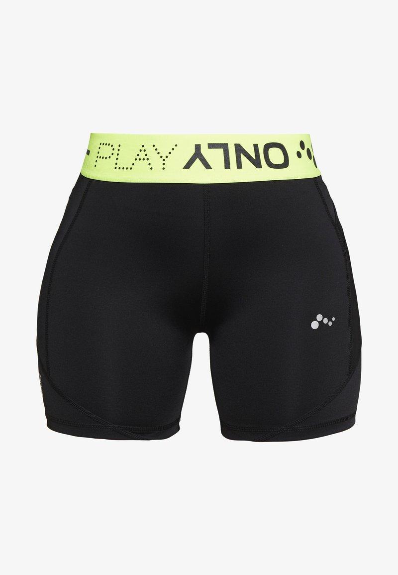 ONLY PLAY Petite - ONPALIX SHAPE - Leggings - black/saftey yellow