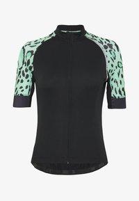 ONLY PLAY Petite - ONPPERFORMANCE BIKE PETIT - T-Shirt print - black/green ash - 5
