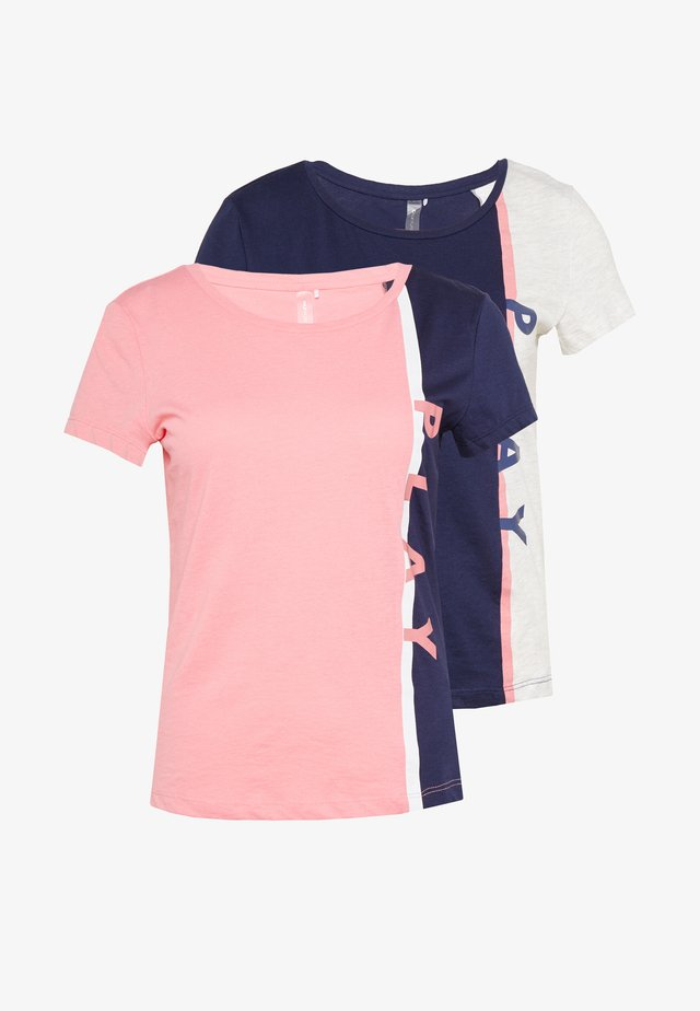 ONPFELICE LIFE TEE 2 PACK - T-shirt med print - maritime blue/straw
