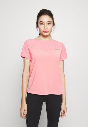 ONPJEWEL BOATNECK TRAINING TEE - Camiseta estampada - strawberry pink/white gold