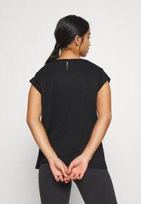ONLY PLAY Petite - ONPMAGDALENA BURNOUT TEE PETITE - Print T-shirt - black - 2