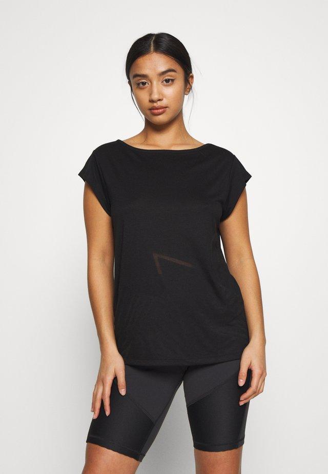 ONPMAGDALENA BURNOUT TEE PETITE - T-shirt z nadrukiem - black