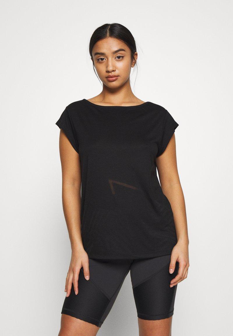 ONLY PLAY Petite - ONPMAGDALENA BURNOUT TEE PETITE - Print T-shirt - black