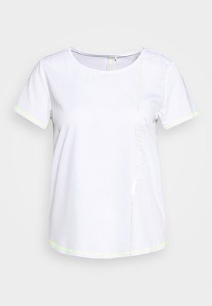 ONPALIX TRAINING TEE - T-shirts print - white/saftey yellow