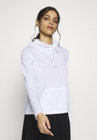 ONLY PLAY Petite - ONPADELLA HOOD TEE - Jersey con capucha - white - 0