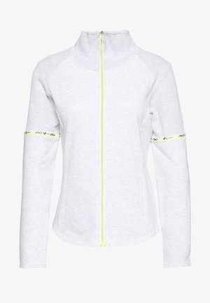 ONPALYSSA ZIP PETITE - Zip-up hoodie - white melange/saftey yellow