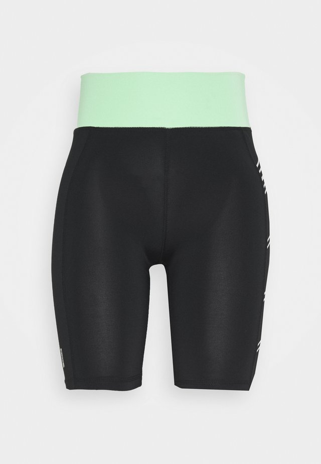 ONPMANON TRAINING PETITE - Shorts - black/green ash/white iridesce