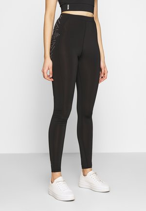 ONPFIONA TRAINING TIGHTS TALL - Leggings - Trousers - black/white