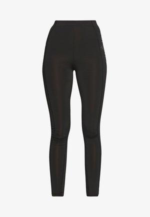 ONPFIONA TRAINING TIGHTS TALL - Leggings - Trousers - black/white