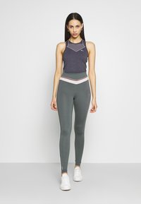 ONLY PLAY Tall - ONPJEWEL MESH TRAINING TIGHTS - Leggings - Trousers - turbulence - 1