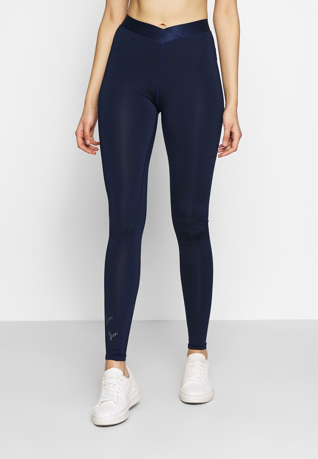 ONPMILEY TRAINING TIGHTS TALL - Leggings - Trousers - maritime blue/white gold