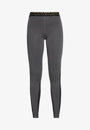 ONPJYNX TRAINING TIGHTS  - Leggings - Trousers - dark grey melange/black/white gold