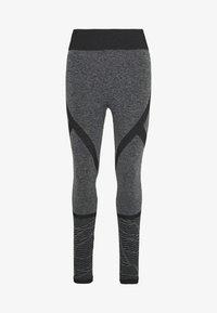 ONLY PLAY Tall - ONPMASHA LIFE CIRCULAR TIGHTS - Leggings - Trousers - black melange/black - 3