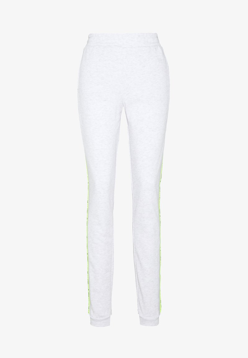 ONLY PLAY Tall - ONPALYSSA PANTS  - Tracksuit bottoms - white melange/safety yellow