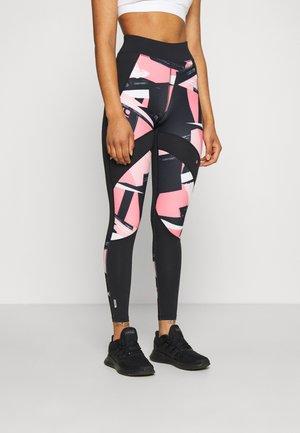 ONPMINALIS TRAINING TIGHTS - Leggings - black/strawberry pink