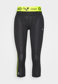 ONLY PLAY Tall - ONPJACEI TIGHTS - Leggings - black/saftey yellow - 0