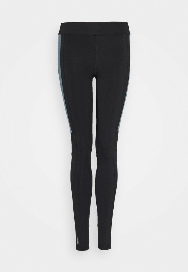 ONPSULA TRAINING TIGHTS - Leggings - black/goblin blue