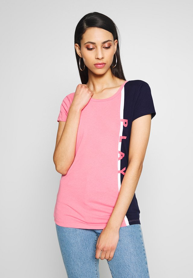 ONPFELICE LIFE TEE 2 PACK  - Print T-shirt - maritime blue/strawberry pink