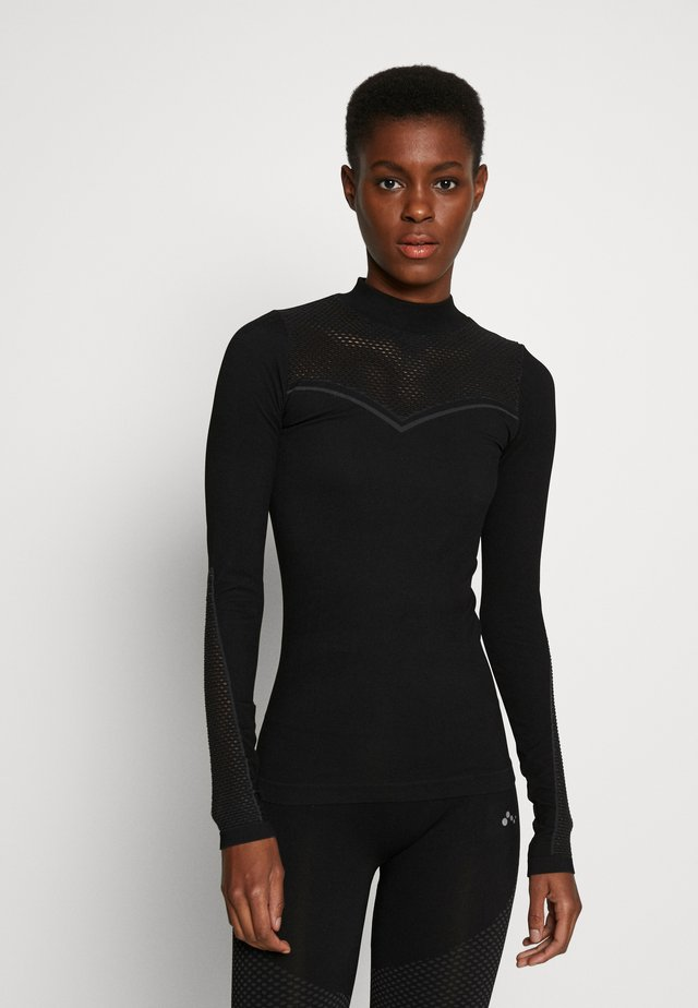 ONPJAMINA SLIM CIRCULAR - Maglietta a manica lunga - black