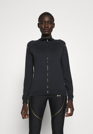 ONPFIONA HIGHNECK ZIP TALL - veste en sweat zippée - black/white