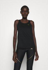 ONLY PLAY Tall - ONPJACINTE TRAINING TALL - Sports shirt - black/white gold - 0