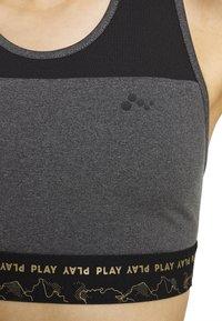 ONLY PLAY Tall - ONPJYNX SPORTS BRA - Top - dark grey /black - 5