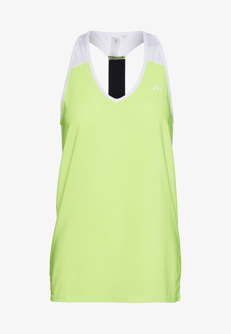 ONLY PLAY Tall - ONPAMBRE TRAINING - Top - safety yellow/white/black