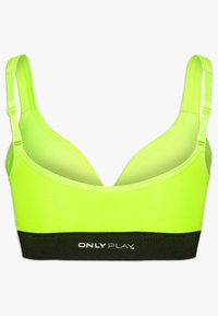 ONLY PLAY Tall - ONPMINDY CIRCULAR SPORTS BRA - Top - safety yellow/black - 1