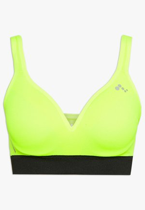 ONPMINDY CIRCULAR SPORTS BRA - Top - safety yellow/black