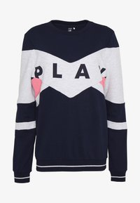 ONLY PLAY Tall - ONPFELICE CREWNECK - Sweatshirt - maritime blue/white melange - 3