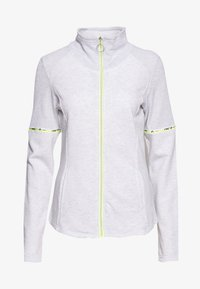 ONLY PLAY Tall - ONPALYSSA ZIP TALL - veste en sweat zippée - white melange/safety yellow - 0