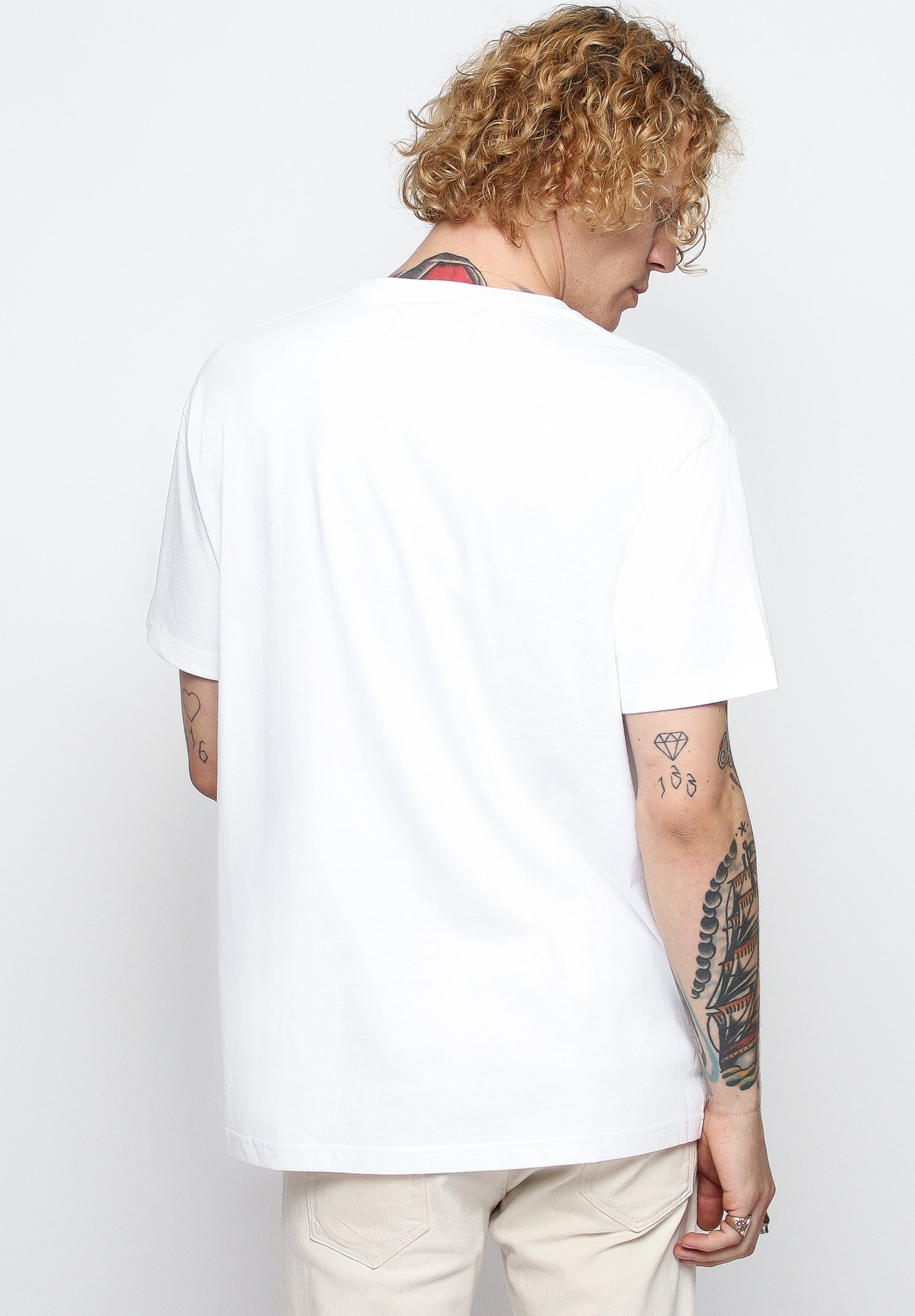 On Vacation T-shirt Con Stampa - White zvSKR