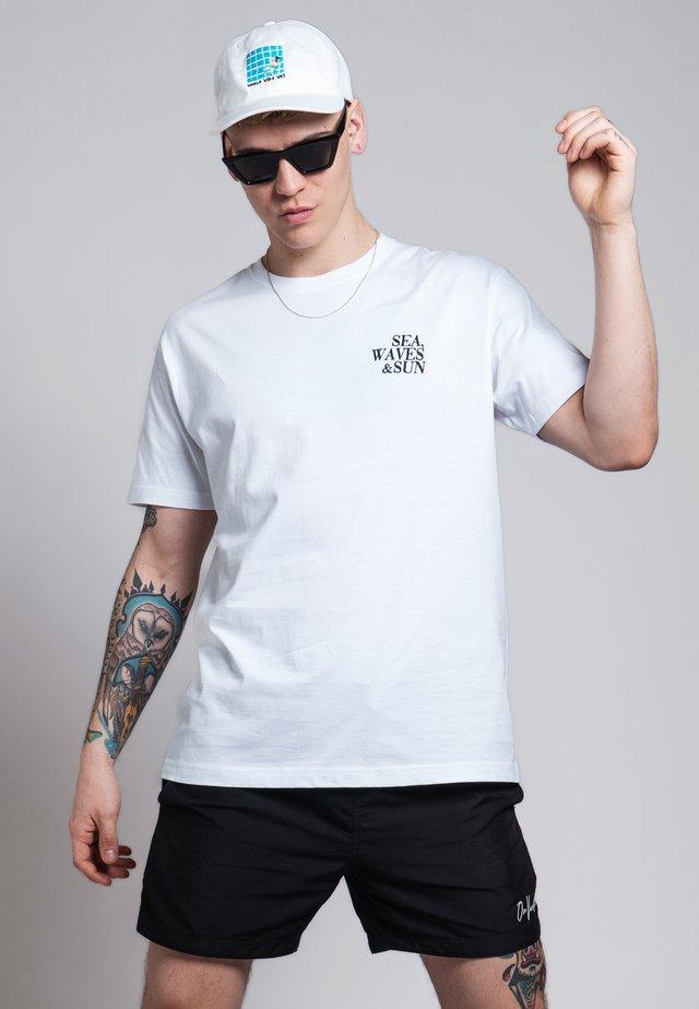 T-shirt print - blanc