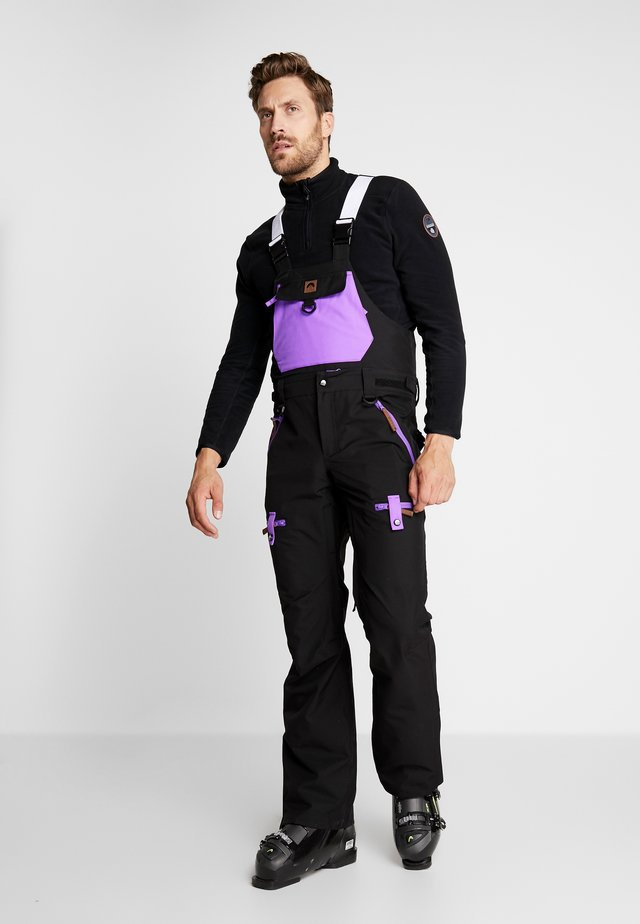 FRESH POW - Pantalon de ski - black