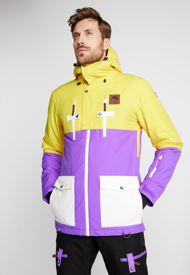 YEH MAN JACKET - Lyžařská bunda - yellow/purple