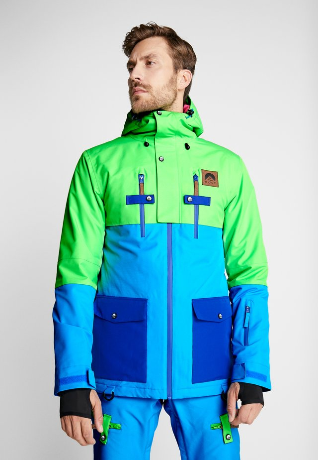 YEH MAN JACKET - Lyžařská bunda - green/blue