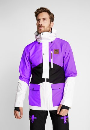 FRESH POW JACKET - Kurtka narciarska - purple/black/white