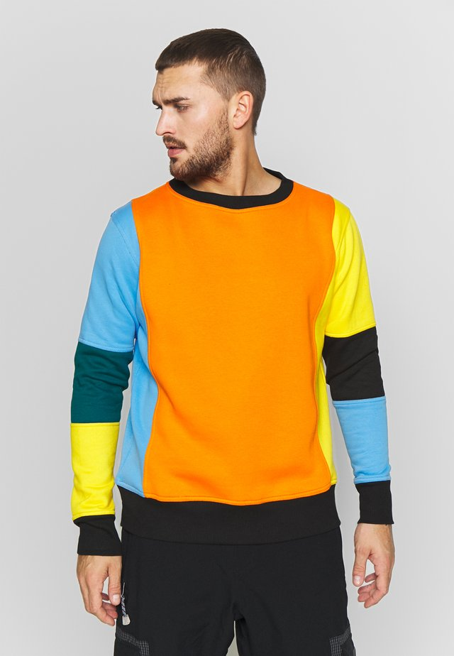 CARLTON  - Mikina - orange/blue/green/black/yellow