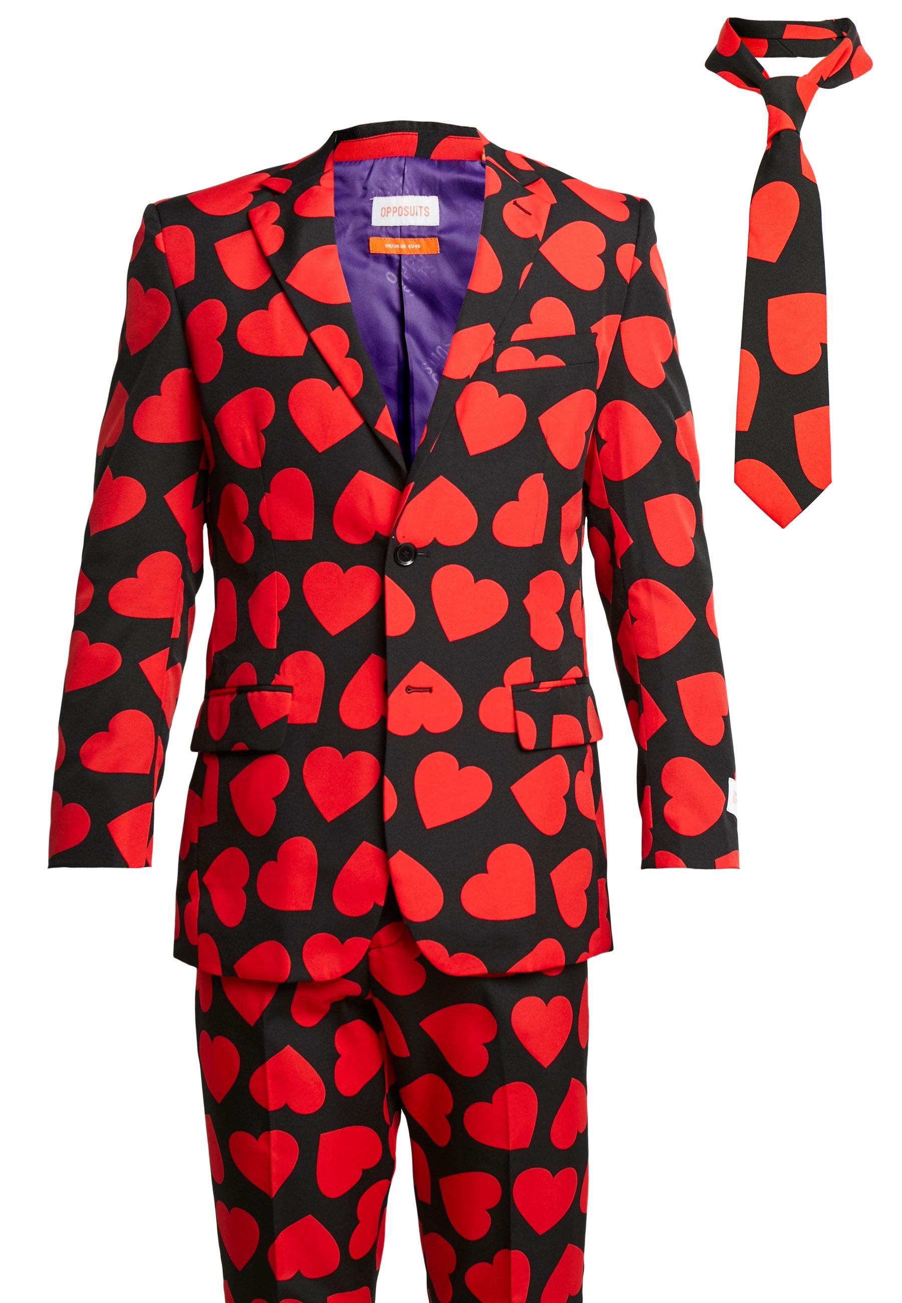 OppoSuits KING OF HEARTS SUIT SET - Garnitur - black/red