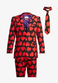 OppoSuits - KING OF HEARTS SUIT SET - Oblek - black/red - 9