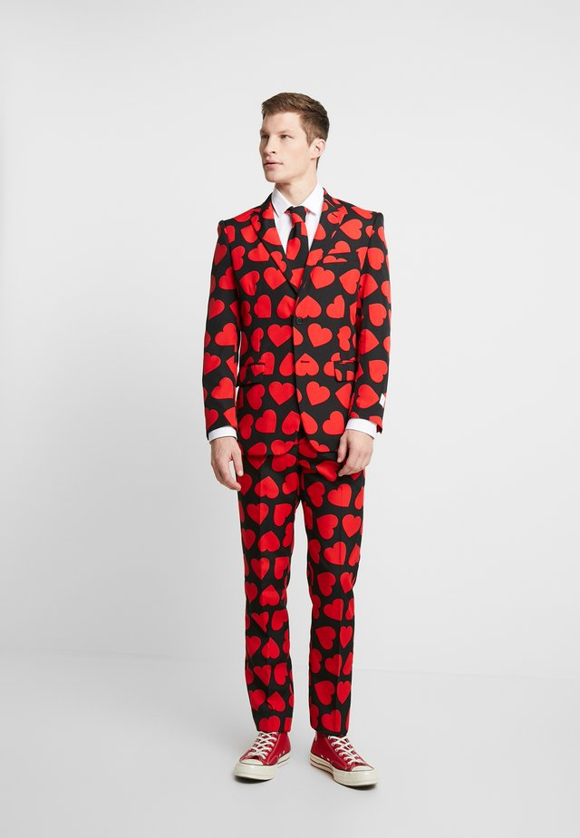 KING OF HEARTS SUIT SET - Garnitur - black/red
