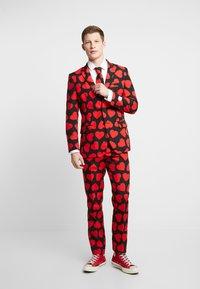 OppoSuits - KING OF HEARTS SUIT SET - Oblek - black/red - 1
