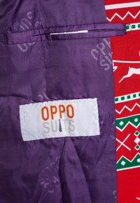 OppoSuits - TEEN BOYS WINTER WONDERLAND SET  - Completo - dark red - 5