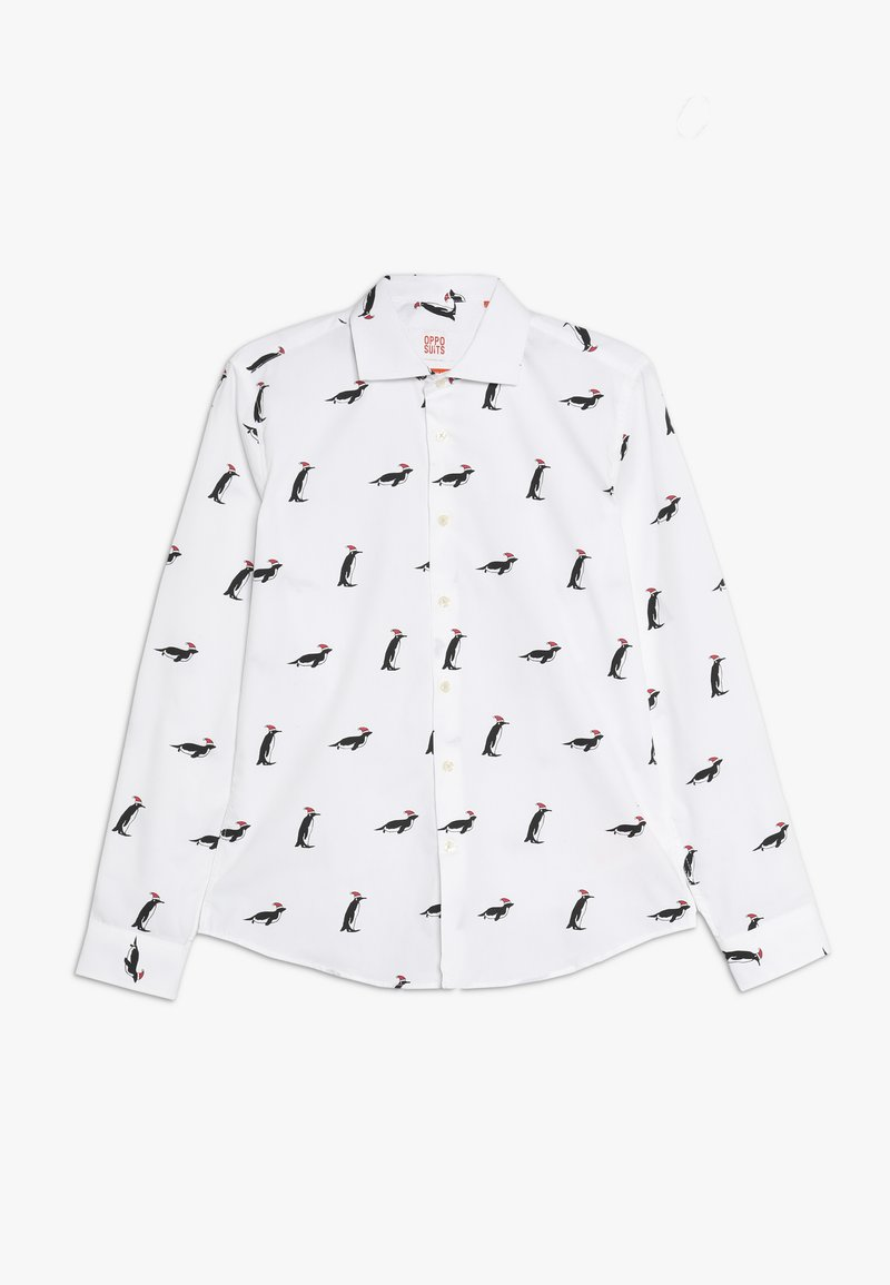 OppoSuits - TEENS CHRISTMAS PENGUINS  - Košile - white