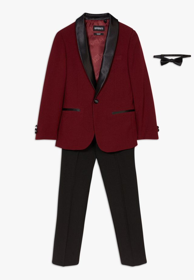 HOT TUXEDO TEENS SET - Garnitur - burgundy