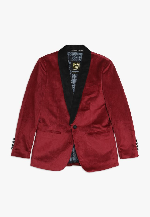 TEENS DINNER JACKET - Chaqueta de traje - burgundy